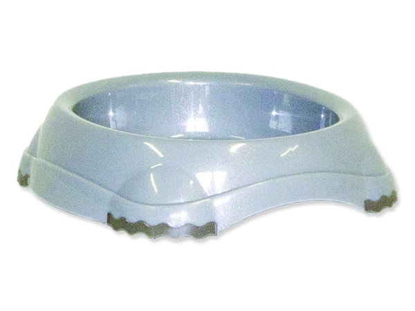 Miska MAGIC CAT plastová protiskluzová šedá 15 cm 210ml