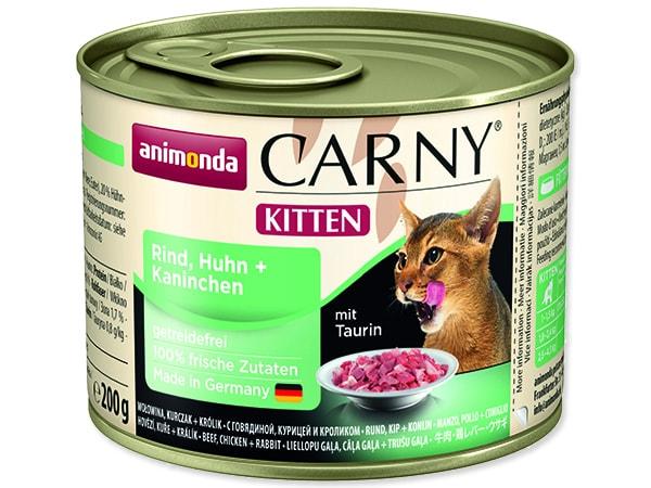 Konzerva ANIMONDA Carny Kitten hovězí + kuřecí + králík 200g