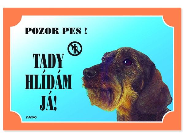 403b72659c2 Tabulka DAFIKO jezevčík drsnosrstý - Výstražné tabulky - Reedog.cz ®
