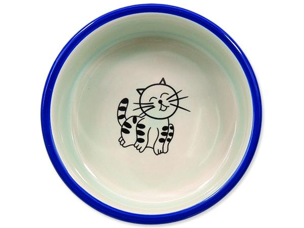 Miska MAGIC CAT keramická kočičí tlapka modrá 12,5 cm