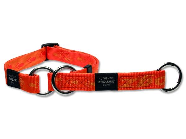 Obojok ROGZ Alpinist polosťahovací oranžový XL