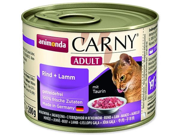 Konzerva ANIMONDA Carny Adult hovězí + jehně 200g
