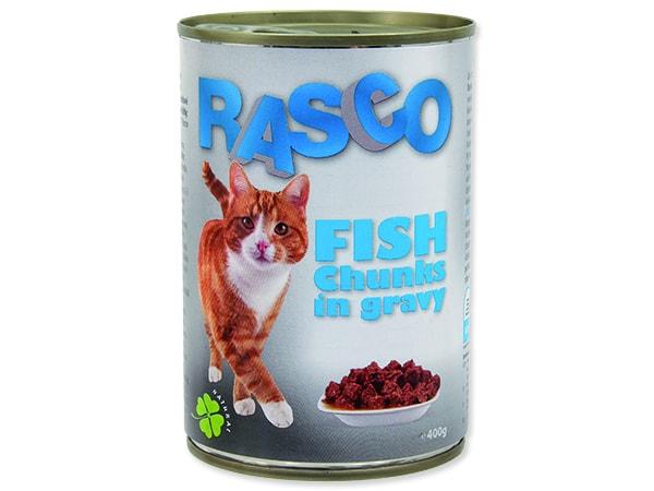 Konzerva RASCO Cat rybí kousky ve šťávě 415g