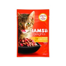 Kapsička IAMS Cat Delights Chicken & Red Pepper in Jelly 85g