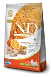N&D LG DOG Adult Mini Codfish & Orange 800g