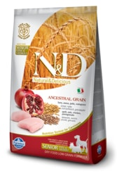 N&D LG DOG Senior S/M Chicken & Pomegranate 2,5kg