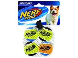 Hračka NERF tenisák pískací 4 cm 4ks