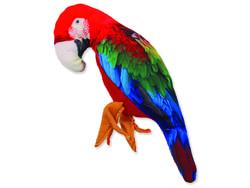 Hračka DOG FANTASY textilní papoušek 28 cm