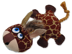 Hračka DOG FANTASY textilní žirafa 32 cm