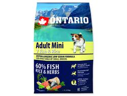 ONTARIO Dog Adult Mini Fish & Rice 2,25kg