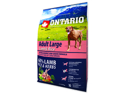 ONTARIO Dog Adult Large Lamb & Rice & Turkey 2,25kg