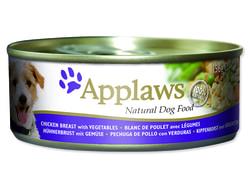 Konzerva APPLAWS Dog Chicken, Vegetables & Rice 156g