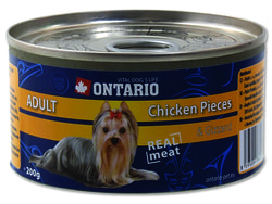 Konzerva ONTARIO Dog Chicken Pieces + Gizzard 200g