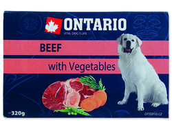 Vanička ONTARIO Dog Beef with Vegetable 320g