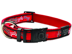 Obojek ROGZ Fancy Dress Red Bone XL