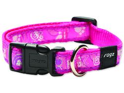 Obojek ROGZ Fancy Dress Pink Paw M