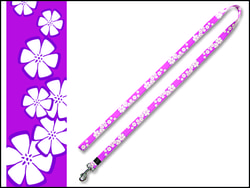 Vodítko DOG IT Květa růžovo-bílé XL
