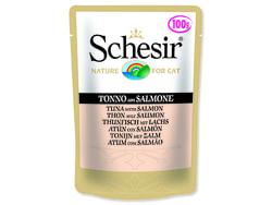Kapsička SCHESIR Cat tuňák + losos 100g