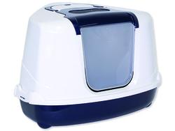 Toaleta MAGIC CAT Jumbo s krytem rohová modrá 59 cm