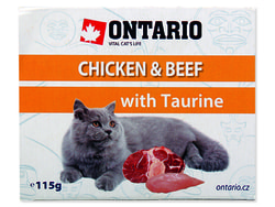 Vanička ONTARIO Cat Chicken & Beef with Taurine 115g
