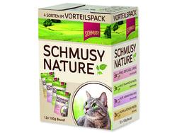 Kapsičky SCHMUSY Nature ve šťávě multipack 1200g