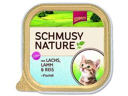 Vanička SCHMUSY Nature Kitten losos + jehně 100g