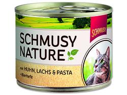Konzerva SCHMUSY Nature kuře + losos 190g