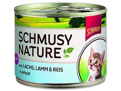 Konzerva SCHMUSY Nature Kitten losos + jehně 190g