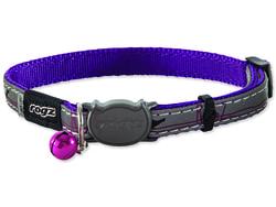 Obojek ROGZ NightCat Purple Budgies