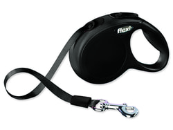 Vodítko FLEXI Classic New páska černé XS 3 m/12 kg