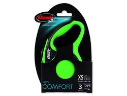 Vodítko FLEXI Comfort New páska zelené XS 3 m/12 kg